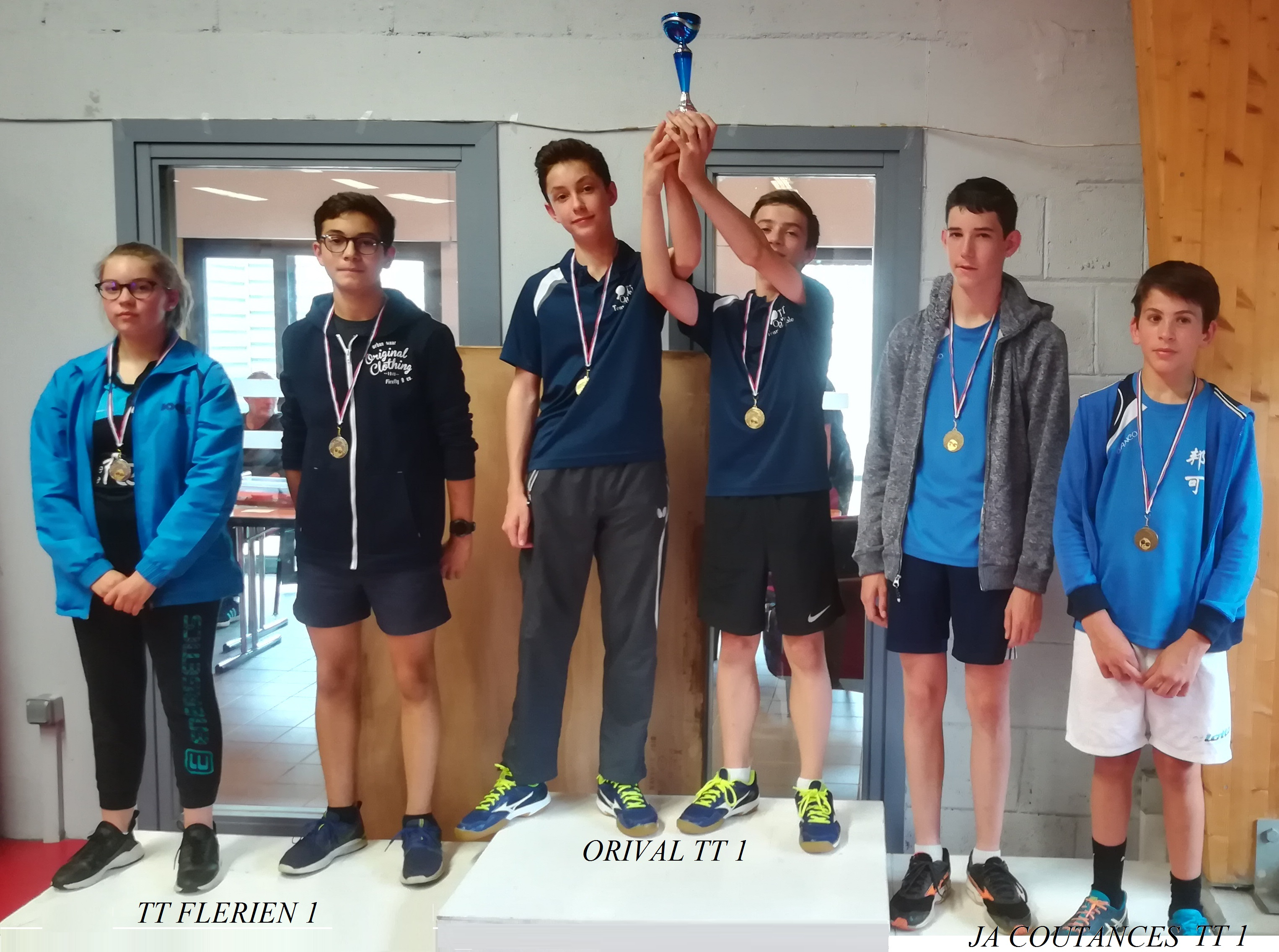 Podium Cadets Interclubs Regionaux