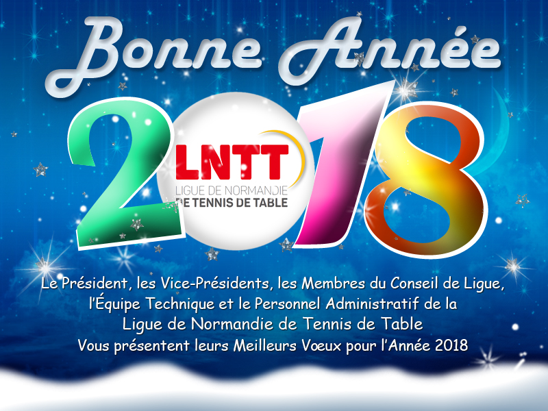 Voeux Ligue de Normandie de Tennis de Table 2018